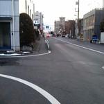 PATE屋 - コノ景色が見えたら左折します。