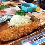 まるは食堂旅館 - 海老フライ (2000円コース)