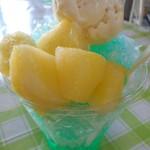 ひめゆり観光センター でいご - 料理写真:おっパインかき氷
