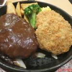 洋食やさん - 料理写真:ハンバーグとヘレカツ アップ