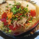 屋台拉麺一's - 料理写真:旨辛ぁめん、チャーシュー4枚