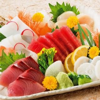 鮮魚は豊洲から毎日買付!朝仕入れたものをその日のうちにご提供