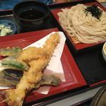 まるいうどん - 料理写真:大海老天ぷらの天ざるうどん