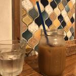 猿Cafe - アイスコーヒー。ちょっと飲んでしまいました。