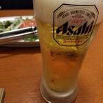 113938784 - とりあえず、の生ビール