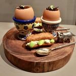 mille - エダマメのエクレアとトリュフの卵