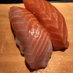 魚がし鮨 - 大とろサーモン