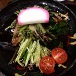 113948929 - 冷し山菜(そば)のアップ