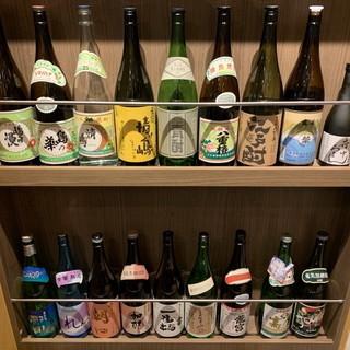 日本酒(東京地酒)焼酎(20種)を豊富に取り揃えています♪