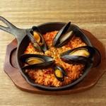 ムール貝のトマトリゾット tomato cream risotto with mussels
