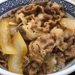 吉野家 - 料理写真:牛丼 並盛 380円。玉子 70円。