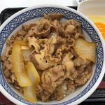 吉野家 - 牛丼 並盛 380円。玉子 70円。