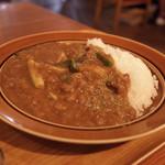 隈本総合飲食店 MAO - この日のカレーライス定食は粗挽き豚と九条ネギの出汁ポークカレー