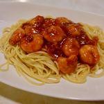 かついちレストラン - エビチリスパゲッティー 900円