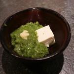 牛たん炭焼 利久 - 小鉢のめかぶと豆腐