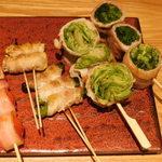 博多焼き鳥・野菜巻き・もつ鍋 かつぎや - お任せ!野菜巻き5種盛り合わせ