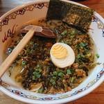 千年ラーメン - 辛子肉高菜麺。