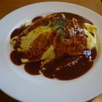 カフェ ダークキャニオン - 料理写真:とろとろオムライス、デミグラスソース(750円)