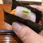 鮨旬美西川 - イカ雲丹 スペシャリテ