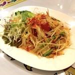 サバイサバイ タイ屋台 - 青パパイヤのサラダ(ソムタム)680円
