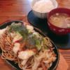 荒尾屋 - 料理写真:焼きそば&ご飯・味噌汁セット