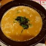ガスト - ピリ辛肉味噌担担麺のアップ