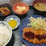 お食事処 ちどり - トンカツ定食500円(日替り時)