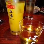 11402384 - オリジナルグラスとウィスキーのような焼酎