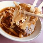 つけめん 丸長 - つけめん 中盛(えのき)@900円の麺