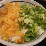 丸亀製麺 - 自作・天かすネギ丼