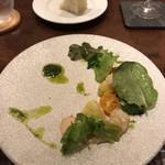 miyashita - 牡丹海老と桃のサラダ