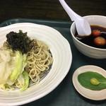 麺屋KENJU - ざるラーメン内容