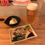 道頓堀麦酒スタンド - 大阪ケルシュ、ポテサラ、カツオたたき