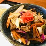 Lamb Lamb Dining - 『ジンギスカン丼』 税込900円 ココはUHB『タカトシランド』で雛形あきこちゃんが訪れていました