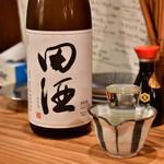 大衆居酒屋 らいく - 田酒 特別純米(一合)@680円