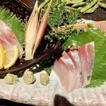 土風炉 - 瀬戸内鮮魚三種盛1,380円