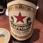 土風炉 - 瓶ビール赤星