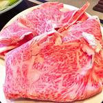 すき焼き 八木 - 料理写真:「すき焼き」の牛肉(2012年1月)
