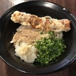 酔壱や - 「ぶっかけ 冷」400円+「ちくわの天ぷら」100円