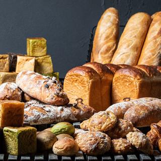 パン職人こだわりの店内自家製仕込みパン♪テイクアウトも大人気