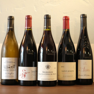 お料理に合わせたいワインも豊富!