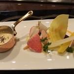 横浜うかい亭 - 綺麗な根菜のサラダ