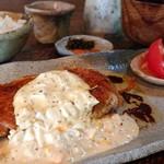 手造り食の店しもだ - ハーブ鶏もも肉のソテー、タルタルソースが絡んで美味!!