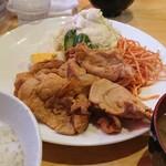 コーヒーショップ キャンディ - 生姜焼き定食    1,200円