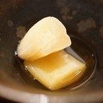 神楽坂 鉄板焼 中むら - 白ダツの酢の物