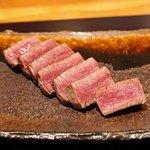 神楽坂 鉄板焼 中むら - 川岸牧場の神戸牛シャトーブリアンのステーキ