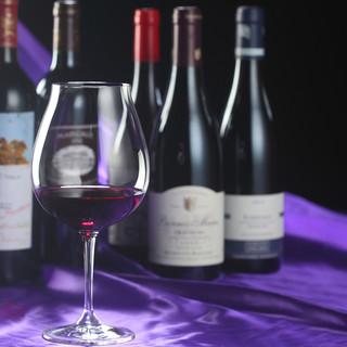 至極の一皿とワインのマリアージュ◆ワインをはじめドリンク充実