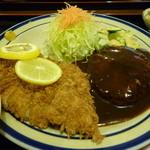レストラン かつみ - ハンバーグ+チキンかつ