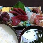 山茶花 - 刺身定食 900円