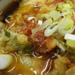 立喰生そば 長寿庵 - #食べログ的に撮るとこうなる 天ぷらにはアミエビのお姿が